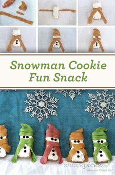 Snowman Cookie Fun Snack