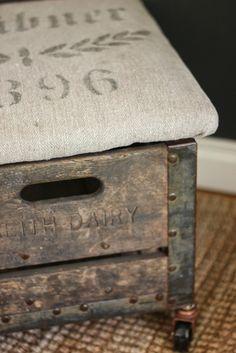 Restoration House Interiors: MOTIVATE   DIY Rolling Milk Crate Stool
