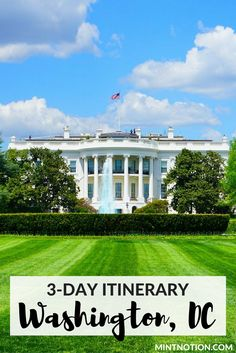 3-day Washington DC itinerary for first time visitors. See the best of Washington with this three day itinerary. Perfect for your first trip!