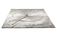 TIMBER-matto, 160 x 230 cm (harmaa/valkoinen/musta) | Sotka