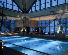 Hotel Swimming Pool Views: Atrium Pool, Park Hyatt, Tokyo @TravelLeisure