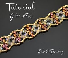 Golden Age superduo bead pattern beading by BeadedTreasury