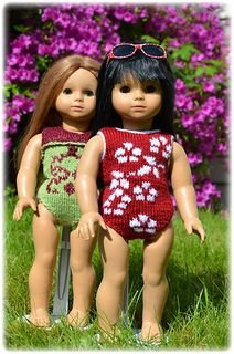 AG doll free knit swimsuit pattern