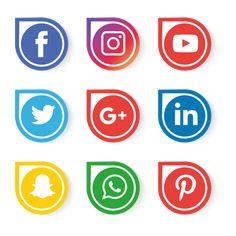 Pinterest, Facebook, Instagram and Youtube Free SVG logo