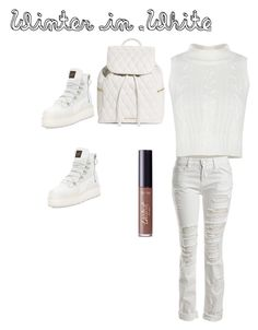 """Winter in White"" by fredericaehimen on Polyvore featuring Sans Souci, Puma, Vera Bradley and tarte"