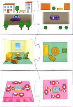 Lezen van eenvoudige plattegronden met kleuters 4, free printable