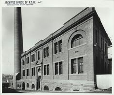 Ultimo Power Station in Ultimo in Sydney (year unknown). •State Records of NSW• ..
