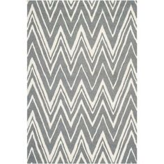 Lola Textured Rug in Dark Grey and Ivory