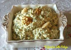 Pesto+di+sedano+zucchine+e+noci