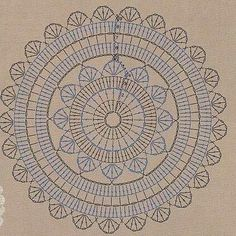 Crochet Doily Rug in Ecru 38 Crochet Potholder Patterns, Crochet Doily Rug, Crochet Carpet, Crochet Mandala Pattern, Crochet Tablecloth, Crochet Stitches Patterns, Crochet Diagram, Crochet Squares, Diy Crafts Crochet
