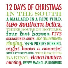 12 Days of Christmas in The South