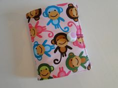 Crayon wallet - Pink Monkey - Perfect gift for crafty girls