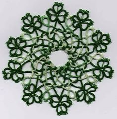 st patrick's day crochet patterns - this would be pretty as a runner, too