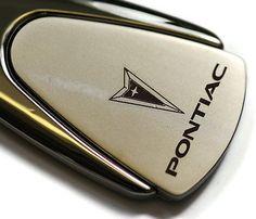 Pontiac Chrome Teardrop Authentic Logo Key Ring Fob Keychain Lanyard