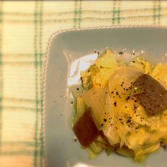 黒胡椒とオリーブオイルだけで - 5件のもぐもぐ - 白菜、玉ねぎ、こんにゃくのあったかサラダ by naruco2