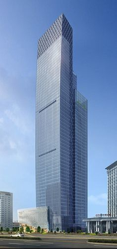 Yulong International Financial Plaza, Wuhan, China by DP Architects :: 55 floors, height 262m