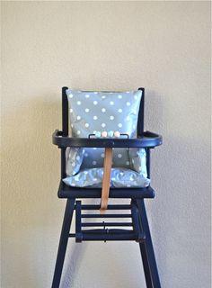♦ Coussin de chaise haute gris clair pour bébé : Puériculture par mazette-and-cie
