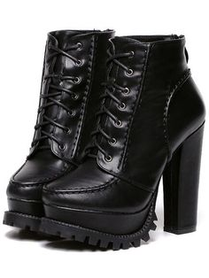 SheIn offers Black Chunky High Heel Hidden Platform Boots & more to fit your fashionable needs. Informations About Shop Black Chunky Read Black Chunky Platform Heels, Chunky High Heels, Black Leather Ankle Boots, Black High Heels, High Heel Boots, Black Boots, Heeled Boots, Pointy Boots, Chunky Shoes