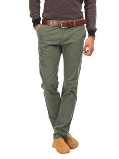 Indian Terrain Men Olive Green Trousers | Myntra via @Myntra.com