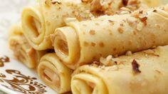 Diese Pfannkuchen gehen immer  - Pfannkuchenröllchen mit Apfel, Erdnussbutter und Nüssen   http://eatsmarter.de/rezepte/pfannkuchenroellchen-mit-apfel-erdnussbutter-und-nuessen