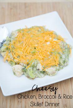 Cheesy Chicken, Broccoli & Rice Skillet Dinner ~ New 31 Days of Skillet Dinners Recipe! | 5DollarDinners.com