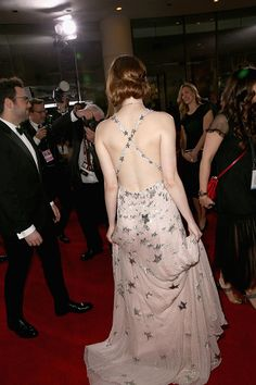 Actress Emma Stone fashion detail attends the 74th Annual Golden Globe Awards at The Beverly Hilton Hotel on January 8 2017 in Beverly Hills...