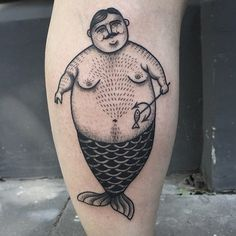 Drown into Susanne König's beautiful blend of blackwork and dotwork with her lovely illustrative tattoos. Funny Tattoos, Love Tattoos, Beautiful Tattoos, Black Tattoos, Body Art Tattoos, Black Work Tattoo, Whale Tattoos, Fat Mermaid, Geniale Tattoos