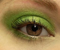 Lime Green Glitter Eyeshadow  RADIOACTIVE Mineral MINI by BLSoaps, $3.95