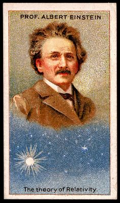 Cigarette Card (Albert Einstein) Dunway Enterprises - http://www.learn-to-draw.org/caricatures_clb.html?hop=dunway