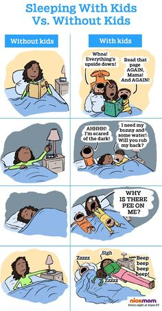 Here's What Kids Do to Your Sleep (in Cartoon Form) | More LOLs & Funny Stuff for Moms | NickMom