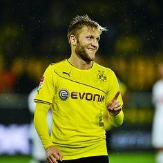 """Jakub """"Kuba"""" Błaszczykowski in Borussia Dortmund's new Christmas Jersey from PUMA."""