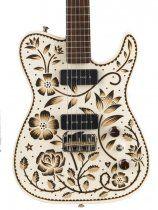 Creston Electric Instruments   GUITARS   Brett Hughes's Sarah-Ryan-painted guitar