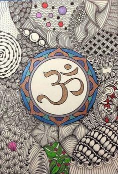 butterflies whisper to death Zen Doodle, Doodle Art, Goa, Om Art, Om Sign, Buddha Zen, Wheel Of Life, Om Symbol, Doodles Zentangles