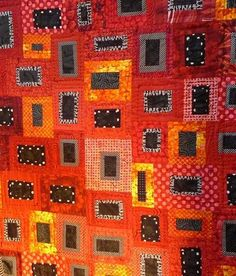 Sunset on the Rock by Carolyn Davis. Hunter Hill Quilt show 2012. Posted by Material Obsession (Australia)