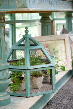 "lovely. Me: Neat idea for all the 'lantern"" like pieces in the second hand shops with missing or broken glass panels."