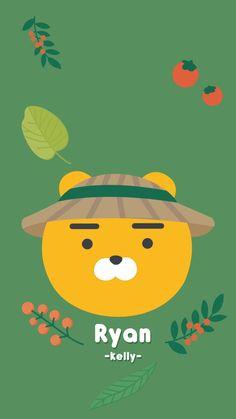 카카오프렌즈 리이언 K Wallpaper, Cute Wallpaper Backgrounds, Nature Wallpaper, Ryan Bear, Cute Simple Wallpapers, Apeach Kakao, Best Quotes Wallpapers, Kakao Ryan, Kakao Friends