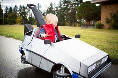 Back To The Future, DeLorean and Marty McFly – Cuttest Geeky Halloween costume for a baby ever !