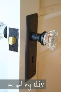 I'm changing out all my brass door knobs for this!. Now where do I find these glass door knobs?