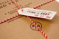 bakers twine wedding inspiration invitations 550x366 Inspiration: Bakers Twine