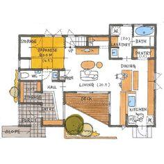 いいね!1,170件、コメント6件 ― 清家修吾さん(@seike_shugo)のInstagramアカウント: 「. 【ボツプラン529】 敷地に対しての建物の配置や形状が上手く、間取りの組み方も良いです。 一切無駄の無い合理的な設計をすることを目的とすれば、100点だと思います(^ ^)…」 Japan House Design, House Plans, Floor Plans, Layout, Flooring, How To Plan, Architecture, Building, Interior