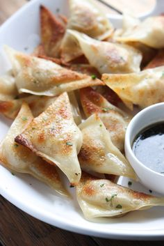 Easy chicken potstickers with only 4 ingredients. Super juicy, tasty, and make a perfect quick dinner or tasty appetizer.