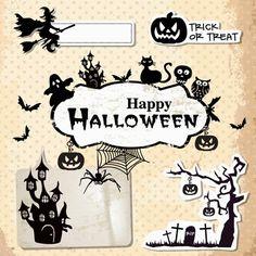 Super Colección de Recursos Gratis para Halloween: Vectores, Fuentes, Flyers, Imágenes de stock,Estilos, Siluetas, Motivos...