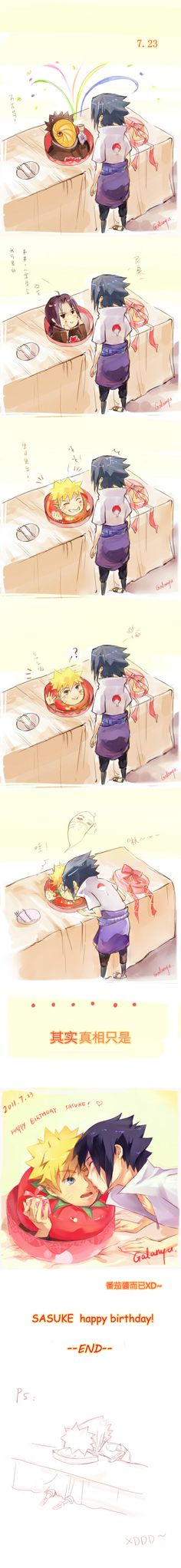 #sasunaru Happy birthday sasuke......