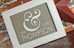 GroopDealz | Mr & Mrs Monogram