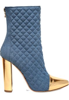 best deals on 0e506 2634a Balmain ○ SS 2014, Quilted Denim Boots Balmain Stiefel, Schöne Schuhe, High  Heel