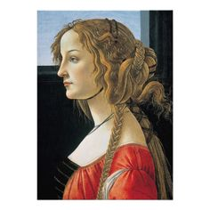 #Portrait of a Young Woman by #Botticelli Personalized #Invitation