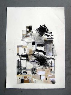 Seths Clark - F O R T _ III  30'' x 42'' collage, colored pencil, pastel, charcoal, graphite on paper