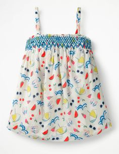 Buy Boden Natural Strappy Smocked Top from the Next UK online shop Daisy Chain, Summer Kids, Our Girl, Girls Wear, Summer Wardrobe, Smocking, Perfect Fit, Kids Outfits, Kids Fashion