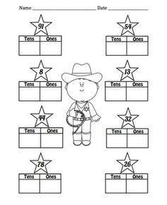 Western Place Value Common Core Math Centers Four fun math centers that will last all year long for place value in hundreds, tens, and ones. Aligned with the common core: CCSS. Elementary Math, Kindergarten Math, Teaching Math, School Themes, Classroom Themes, School Ideas, Math Place Value, Place Values, Cowboy Theme