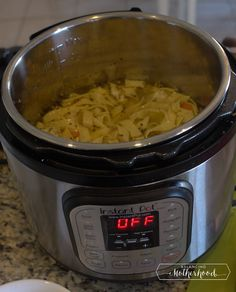 Chicken noodle soup starting with frozen boneless, skinless chicken breasts - For the Instant Pot